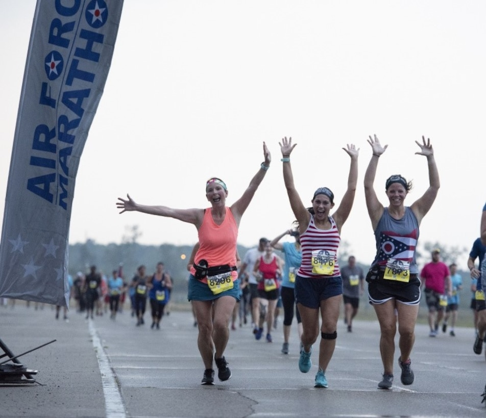 Due to the impact of the COVID-19 pandemic, Air Force officials had cancelled the 2020 Air Force Marathon which would have been held Saturday, Sept. 19. A virtual race option that was already planned to be added this year and has now sold out. Runners will be required to run during the month of September their selected distance of the Air Force Marathon, half marathon, 10K, 5K, Tailwind Trot or the Fly! Fight! Win! Challenge Series race. (U.S. Air Force photo/Michelle Gigante)