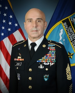 Official photo of Command Sgt. Maj. Benjamin Jones, Senior Enlisted Leader, U.S. Southern Command.