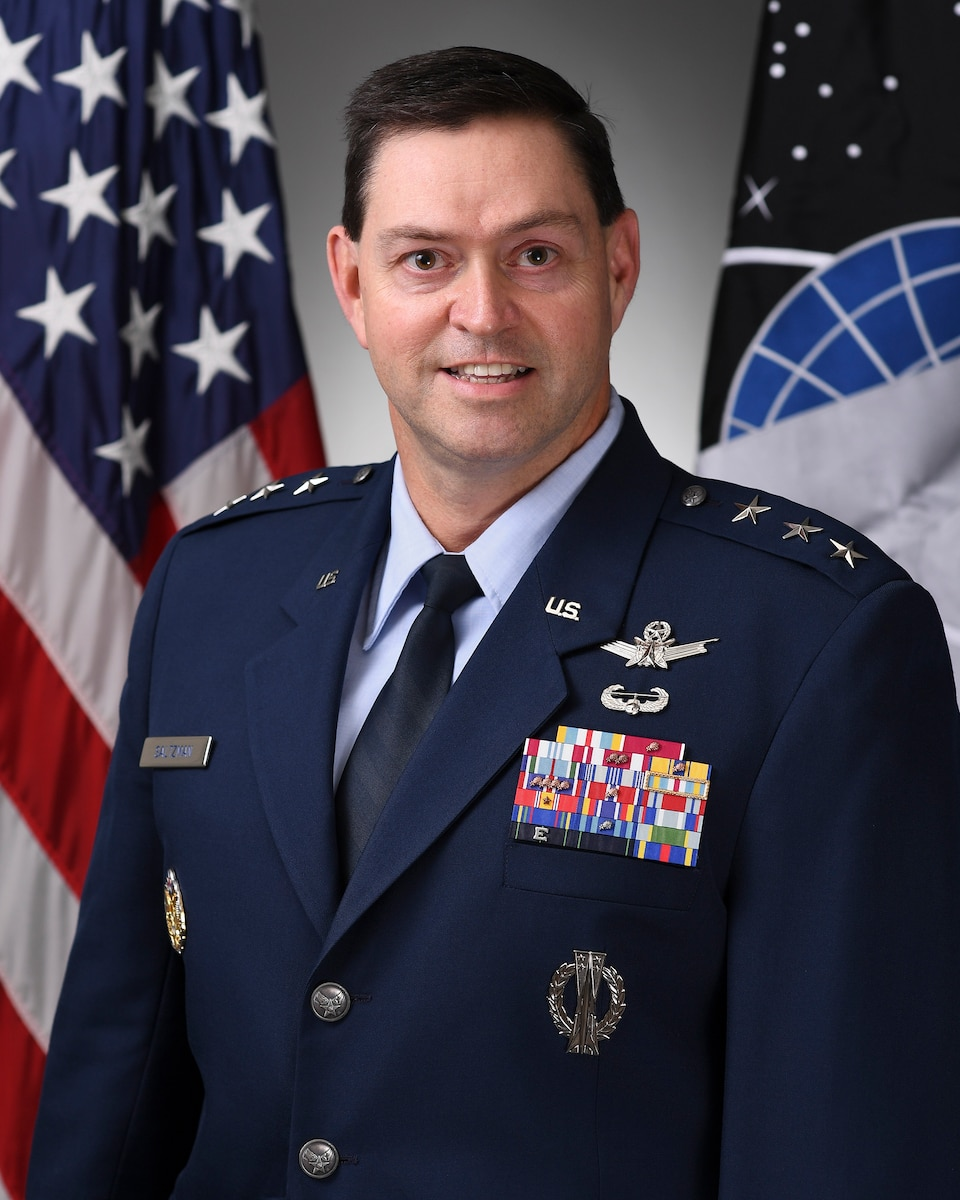 This is the official portrait of Lt. Gen Bradley C. Saltzman.