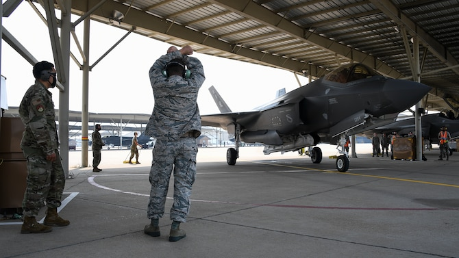 A photo of an F-35 training course at Hill Air Force Base, Utah.