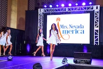 Capt. Jennifer walks the stage at the Mrs. Nevada, America beauty pageant.