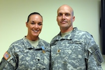 Sgt. 1st Class Krists Clark and her husband Lt. Col. (P) Greg Clark