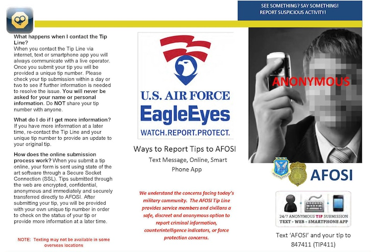 Eagle Eyes - Watch, Report, Protect