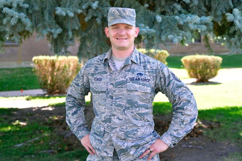 A portrait of Tech.Sgt. Joshua Feekes.