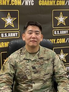 Photo of Captain Sungjae Kim sitting down.