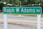 Ralph W Adams Road sign