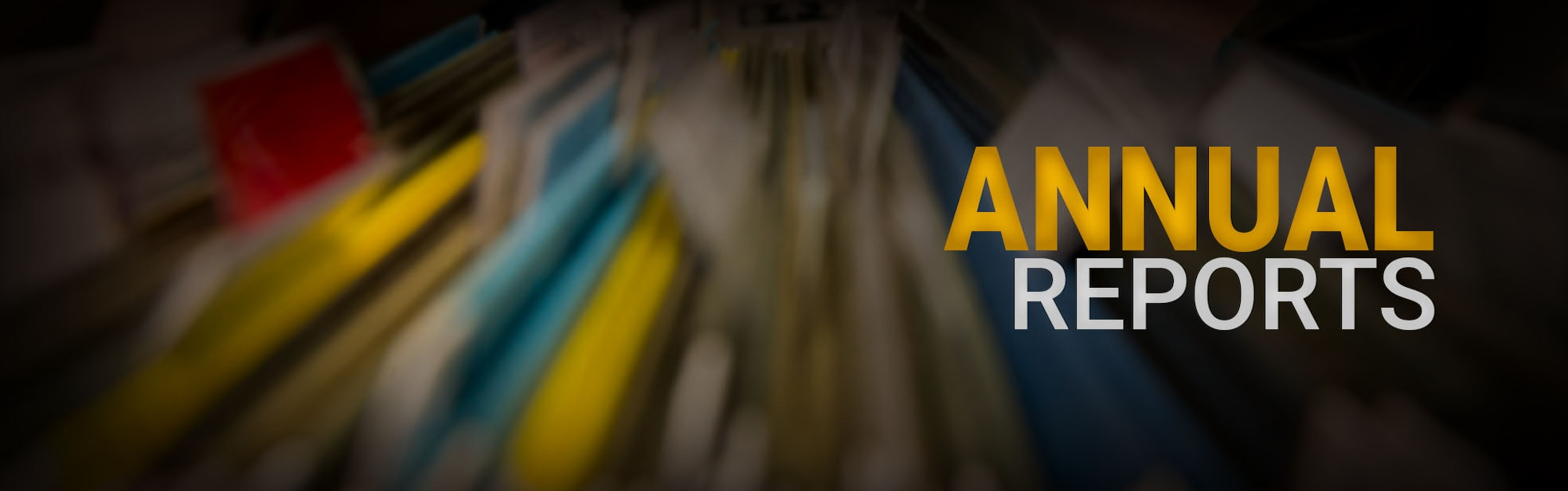 Annual Reports Banner