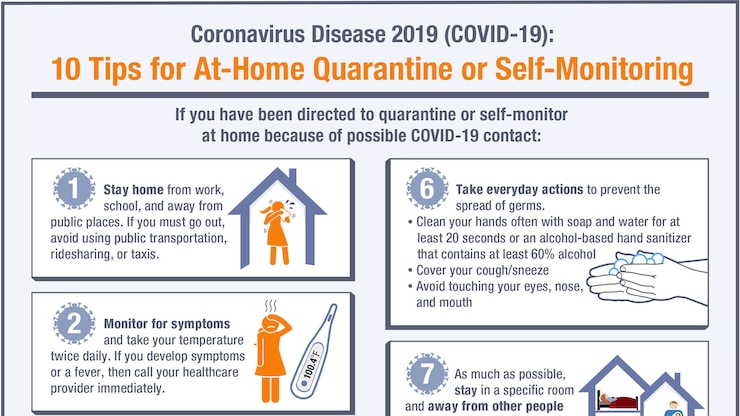 10 Tips for At-Home Quarantine or Self Monitoring