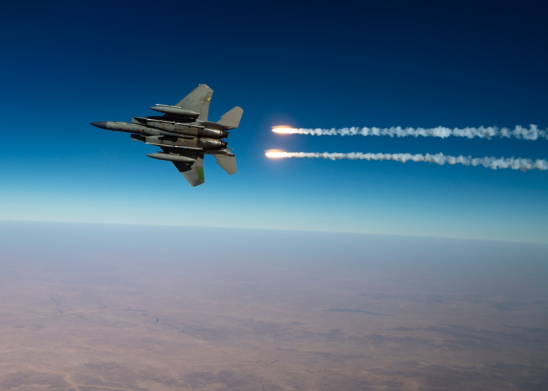 340th EARS conduct aerial refueling with two F-15Cs