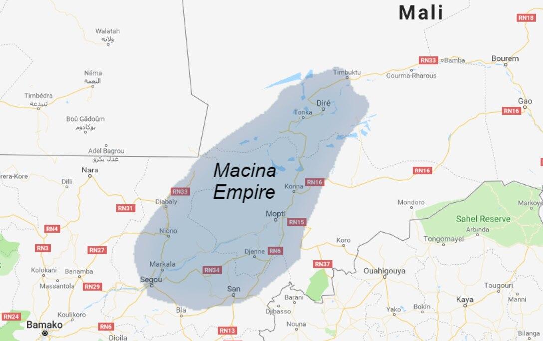 The Macina Empire, c. 1830