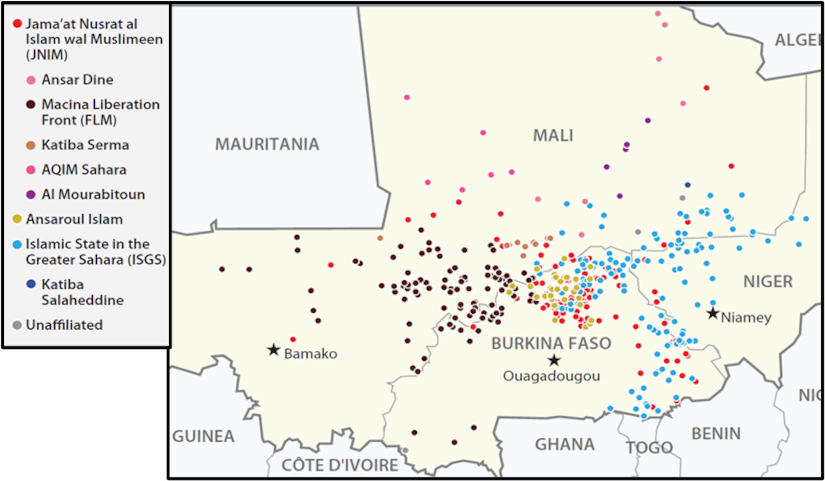 Violent events involving the designated groups in 2019
