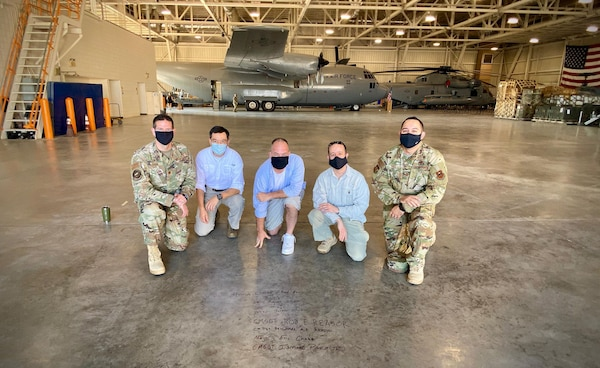 A hypobaric altitude chamber from Tyndall claims the 344th Training Squadron Career Enlisted Aviator Center of Excellence hangar as its new home at Joint Base San Antonio-Lackland, Texas, Aug. 25, 2020.