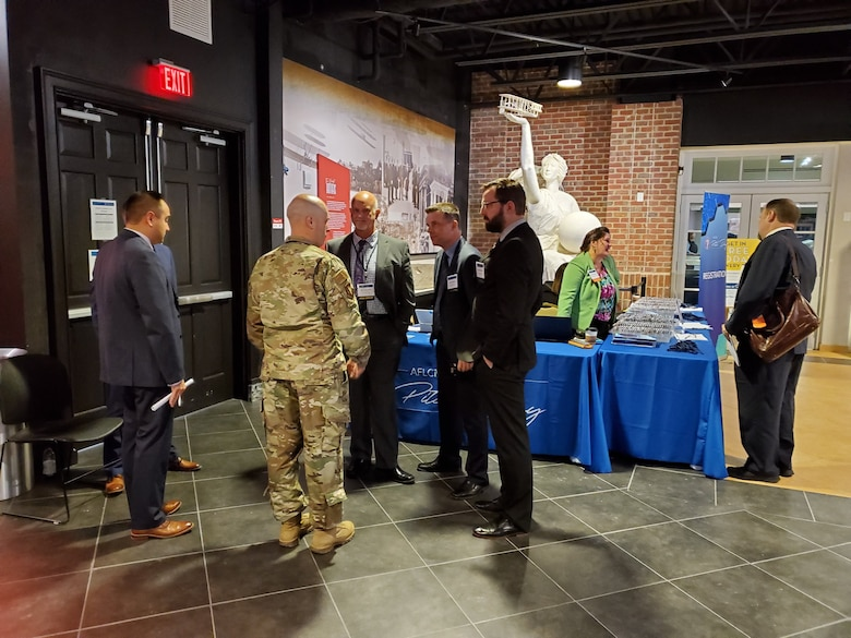 23 small businesses participated in a Pitch Day event  November 15, 2019, in Dayton, Ohio, hosted by the Air Force Life Cycle Management Center. Approximately $15 million in U.S. Air Force contracts were awarded. (Courtesy photo)