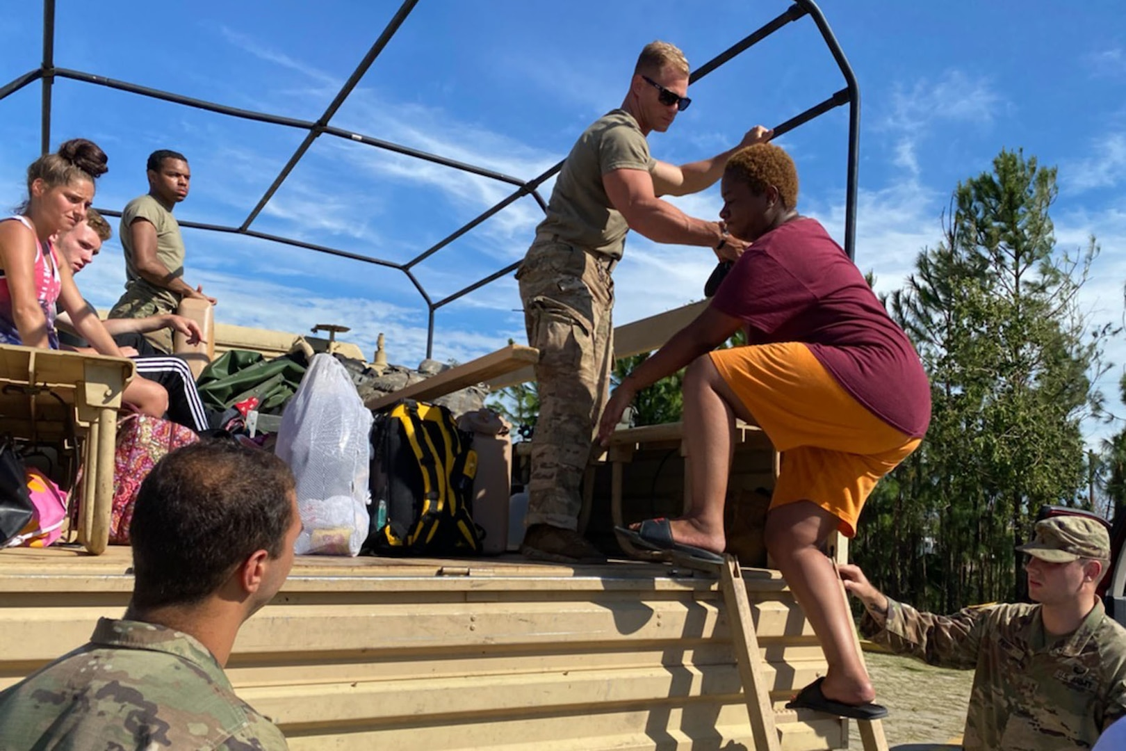 More than 6,200 members of the Louisiana National Guard are helping civilian authorities respond to the aftermath of Hurricane Laura, which made landfall in southwest Louisiana Aug. 27, 2020.