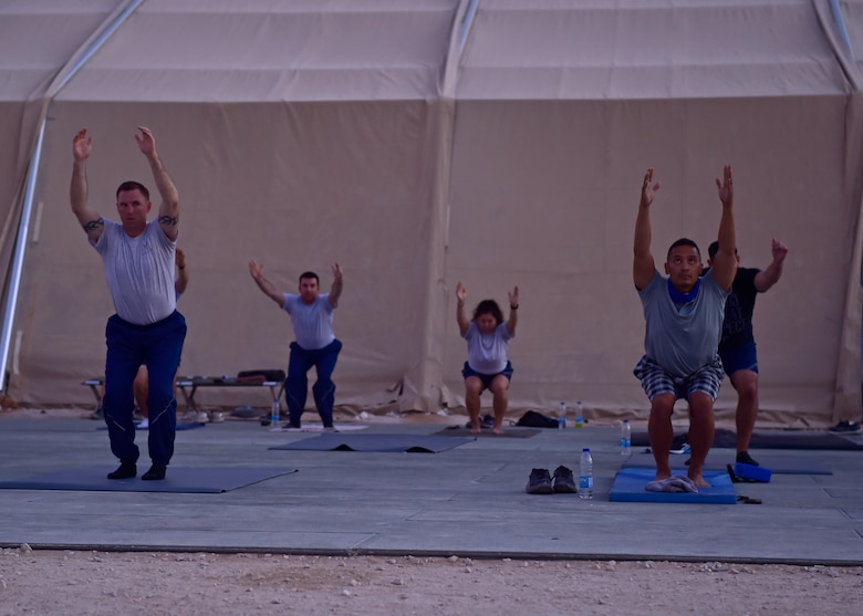 378 AEW honors Women's Equality Day with sunrise yoga