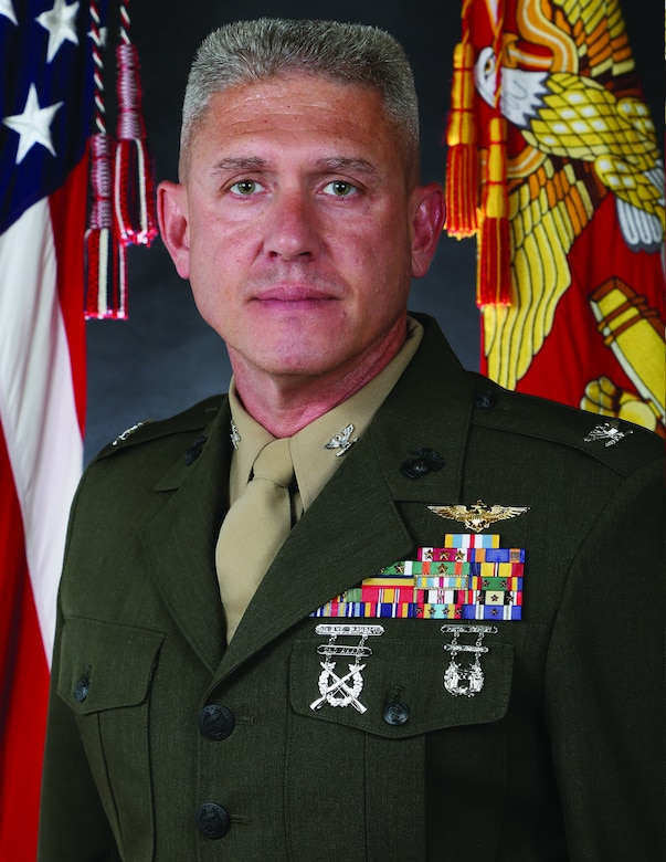 Colonel Dennis W. Sampson, Jr., 26th Marine Expeditionary Unit commanding officer