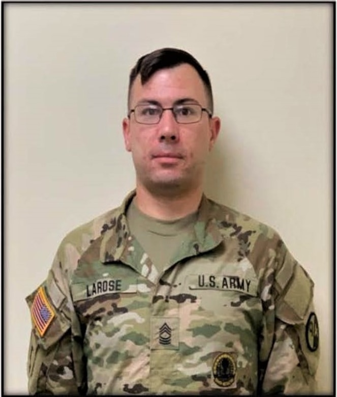 Master Sgt. Raymond LaRose showcased his instructing expertise and demonstrated why he deserved to earn the master instructor title when he appeared before the 1st Brigade (Quartermaster), 94th Training Division – Force Sustainment's first virtual master instructor selection board. LaRose is one of two Army Reserve Soldiers who appeared before the board.