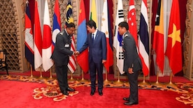Foreign officers graduating from Japan's National Defense Academy