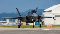 U.S. Marine Corps F-35B Lightning II aircraft assigned to Marine Fighter Attack Squadron (VMFA) 121 conduct flight operations aboard Marine Corps Air Station Iwakuni, Japan, Aug 18, 2020. VMFA-121 is the first forward deployed Marine F-35B squadron, capable of providing close air support and conducting strike missions in support of a free and open Indo-Pacific. (U.S. Marine Corps photo by Cpl. Lauren Brune)
