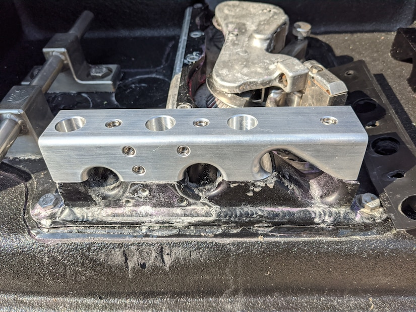 A machined aluminum fairlead block was rapidly produced by the Naval Surface Warfare Center Panama City Division (NSWC PCD) Fabrication and Prototype Shops. This block enabled NSWC PCD engineers to quickly provide a solution to aid in mission continuation.