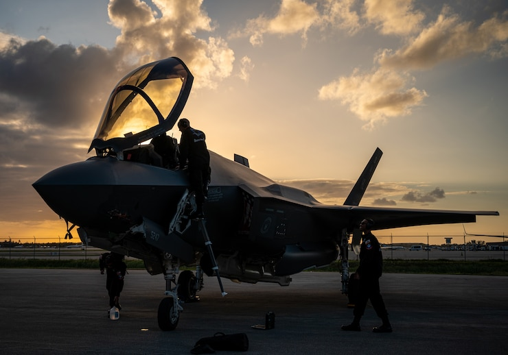 F-35 on ramp