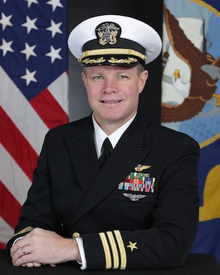 201123-N-YF503-1002 WHIDBEY ISLAND, Wash. (Nov. 23, 2010) Official portrait of Cmdr. David S. Sweet. (U.S. Navy photo)