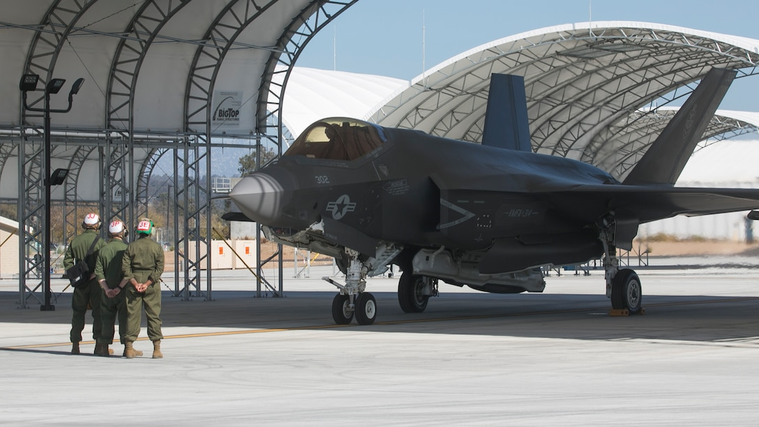 U.S. Marine Fighter Attack Squadron 314 declares their initial operational capability for the F-35C Lightning II, having met the standards set forth by Headquarters Marine Corps.