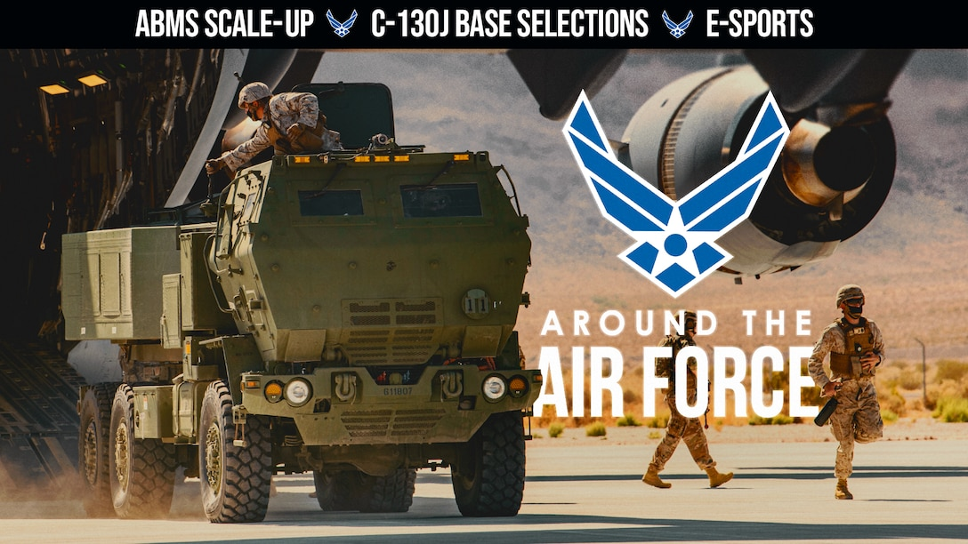 This week's look around the Air Force highlights the Air Force Rapid Capabilities Office as they work to speed development of the Advanced Battle Management System, the Air Force selects four new C-130J locations, and the Air Force Services Center launches an E-Sports program aimed at inclusiveness, resilience, and mental well-being. (Produced by Tech. Sgt. Eric Mann)