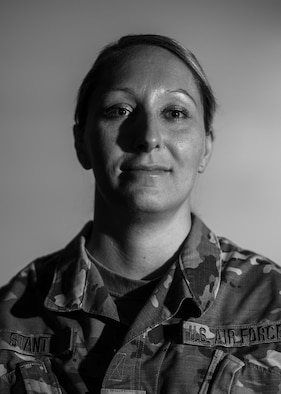 Master Sgt. Ashley Stant, 434th Force Support Squadron personnel systems manager, poses for a photo at Grissom Air Reserve Base, Indiana, on Dec. 3, 2020. Stant was selected as a bone marrow match for a 63 year old male patient with myelogenous leukemia. (U.S. Air Force photo by Tech Sgt. Joshua Weaver)