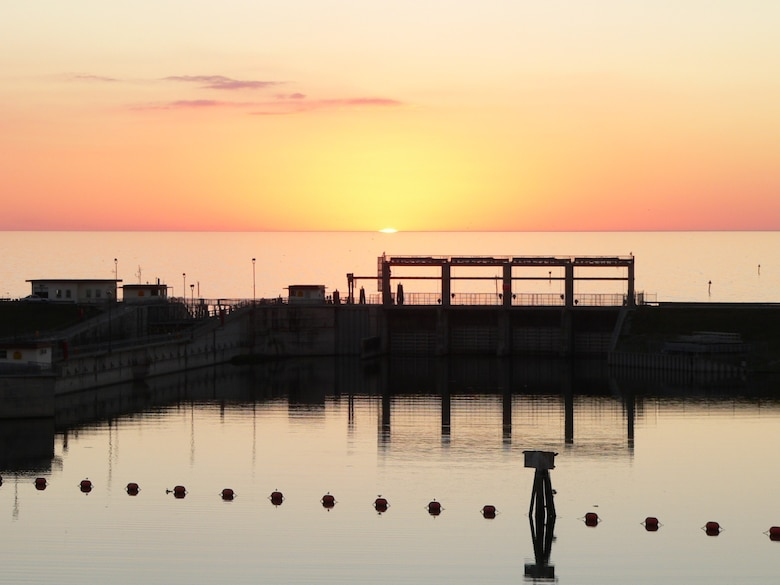 Photo of sunset over Lake Okeechobee viewed from Port Mayaca