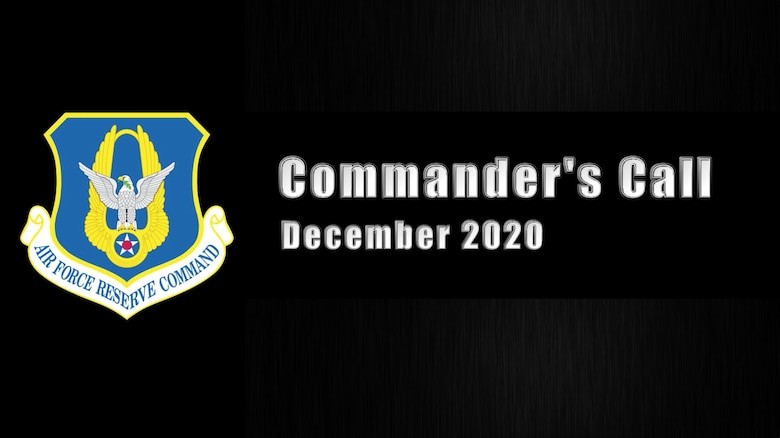 Title card for AFRC virtual year-end Commander's Call