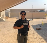 Spc. Alexandria Cochran Kansas City's 1139th Military Police Company, poses in her duty uniform while assigned as a Military Police Investigator deployed in support of the CENTCOM area of operations.