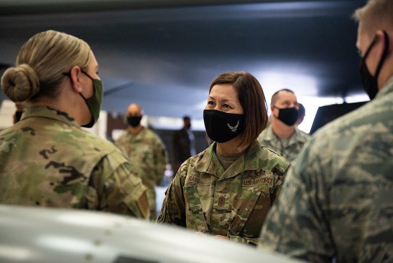 CMSAF Bass visits Whiteman AFB