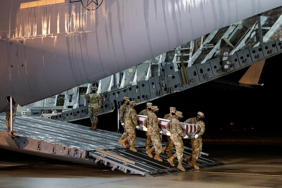 Air Force Capt. Kelliann Leli - Dignified Transfer