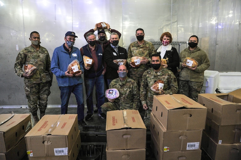 Local Air Force Association chapter delivers holiday hams in annual event benefiting Air Force Reserve families