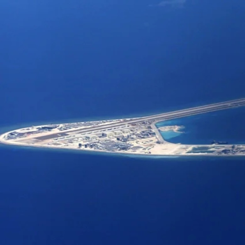 Militarized island in the South China Sea