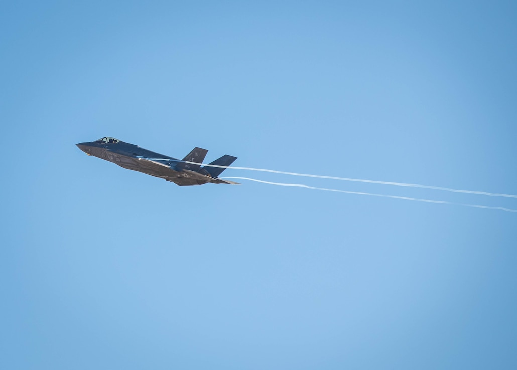 F-35A Lightning IIs perform tactical maneuvers