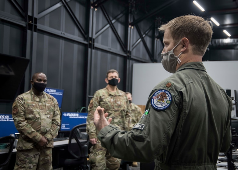 Fighter pilot talks to DANG and ANG Command Chief