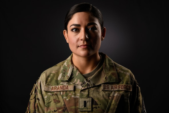 1st Lt. Miah Aranda, 45th Comptroller Squadron Financial Analysis flight commander, poses for a photo on Nov. 24, 2020, at Patrick Air Force Base, Fla. Aranda was one of two Air Force applicants to be chosen for the U.S. Army-University of Kentucky (UK) Master of Social Work (MSW) Program, where upon completion she will earn an appointment as an officer in social work. (U.S. Space Force photo by Airman 1st Class Thomas Sjoberg)