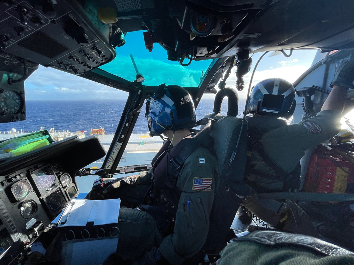 Coast Guard medevac mariner from cargo vessel off Oahu