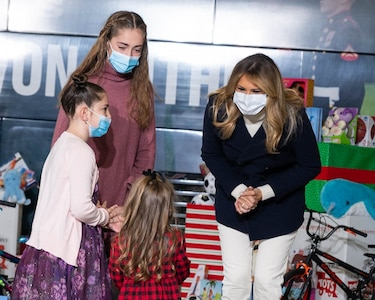 First Lady visits JBAB for 2020 Toys for Tots