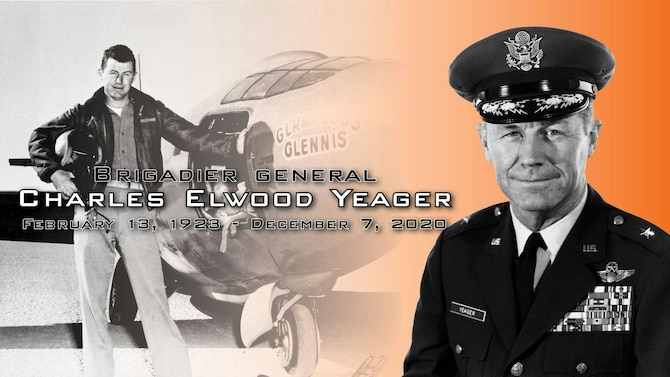 "Famed test pilot, retired Brig. Gen. Charles E. ""Chuck"" Yeager has died, Dec. 7. He was 97."