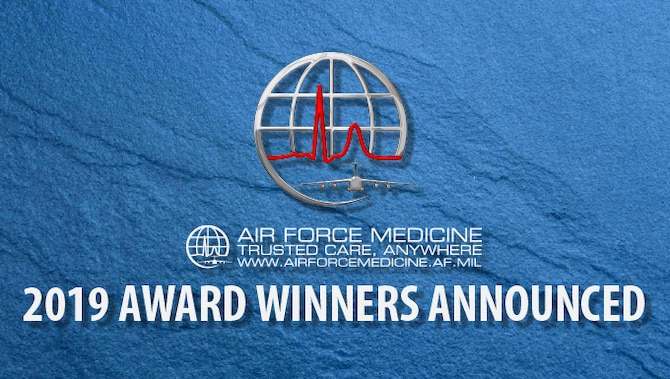 The Air Force Reserve Command announced the recipients of the 2019 AFRC Air Force Medical Service individual and team awards. (U.S. Air Force graphic)