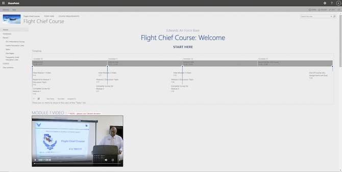 The Edwards Training and Education Center recently completed its first-ever virtual Flight Commander and Flight Chief Course, graduating five students, at Edwards Air Force Base, California.