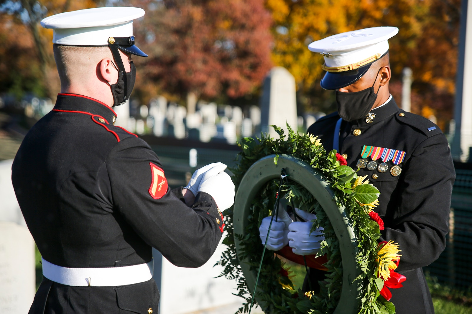 These ceremonies are held to celebrate those Marines' love and devotion to their Corps and Country, and to celebrate the Marine Corps birthday.