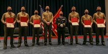 Deputy Chief Sean Egan, presented the Marines a Certificate of Appreciation for their heroic actions on Nov. 7 when they helped save a woman's life who was struck by a vehicle outside their post.