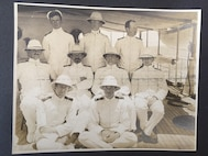 A photo of the officers of Revenue Cutter Tahoma circa 1909