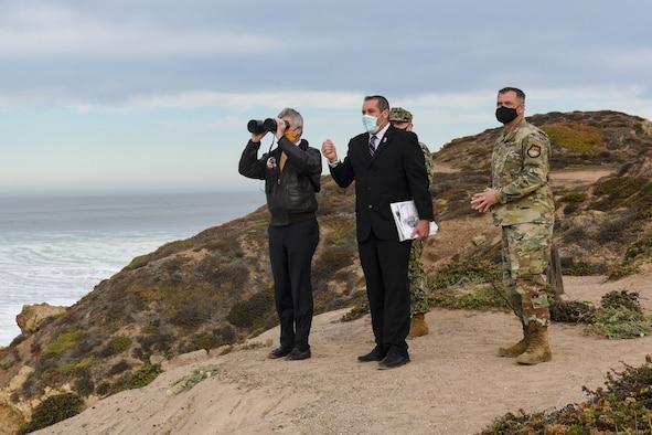 Photo of Secretary of the Navy Braithwaite visiting Vandenberg Air Force Base.