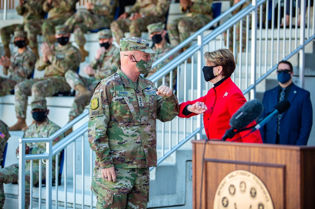 JOINT BASE SAN ANTONIO-LACKLAND, Texas -- History was made here Dec. 10, as the first seven people to enlist directly into the U.S. Space Force graduated from Basic Military Training.
