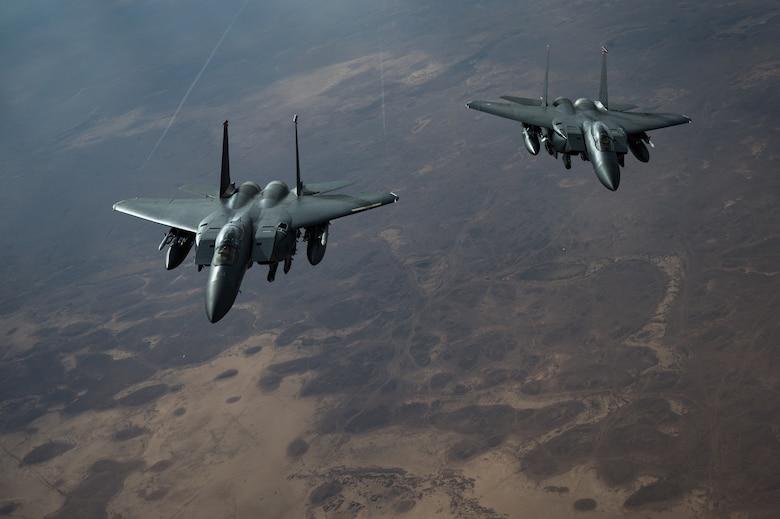 F-15 Strike Eagles keep watch over CENTCOM